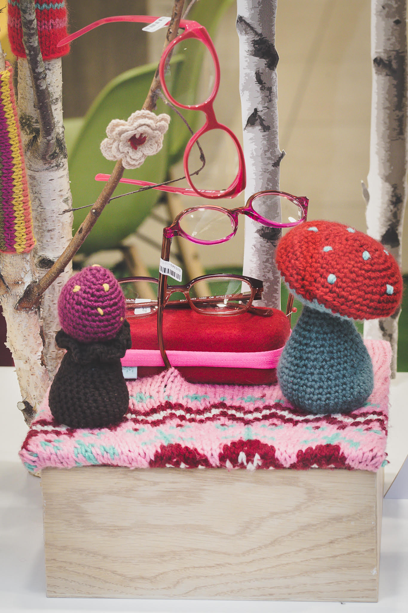 lunettes rose Yarn Bombing-la-decotheque-catherine-Cardin